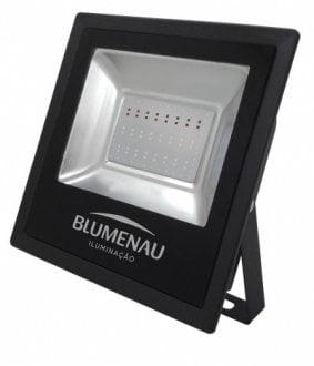 Refletor LED Slim 50W Luz Decorativa RGB com Controle- Bivolt - BLUMENAU