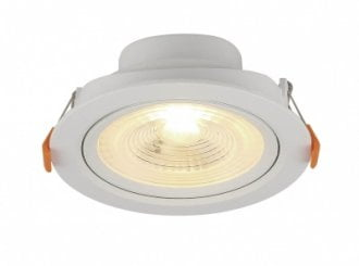 Spot LED SLIM Bivolt Embutir Branca 6W Redondo 4100K - Blumenau