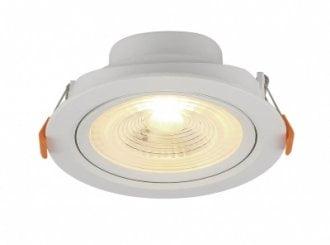 Spot LED SLIM Bivolt Embutir Branca 3W Redondo 6500K - Blumenau