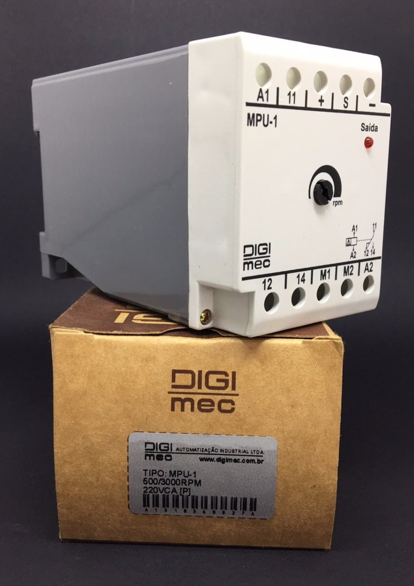 Detector de movimento MPU-1 500/3000 RPM - DIGIMEC