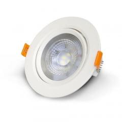 Spot LED SLIM Bivolt Embutir Branca 6W Redondo 3000K - Blumenau