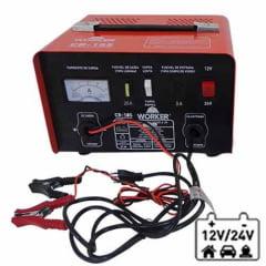 Carregador de Bateria 12V Portátil Worker CB-16S