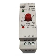 Temporizador com retardo na energização multiescala DTE-1 6 segundos- DIGIMEC