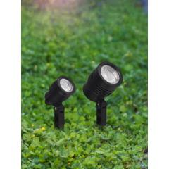Espeto para Jardim Noir 3W luz verde- Taschibra