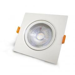 Spot LED SLIM Bivolt Embutir Branca 3W Quadrada 6500K - Blumenau