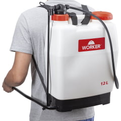 Pulverizador Costal Manual 12L Worker Branco